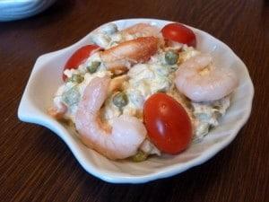 recette salade de crustacés macédoine fruits de mer