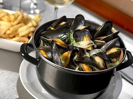 recette moules marinières frites