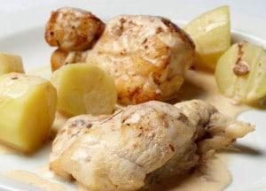recette lotte au cidre pommes de terre