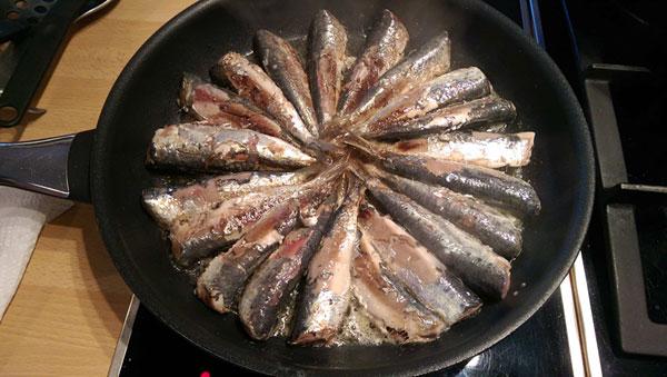 cuisson sardines poêle recette pilchard sardina recipe