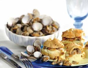 recette choux garnis coquillages petits fours fruits de mer apéritif