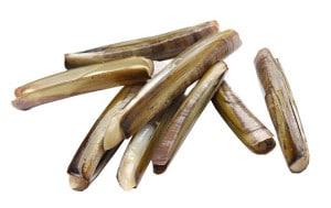 couteaux de mer coquillages pieds de couteau