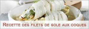 recette filets sole aux coques