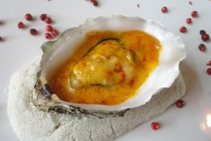 recette huîtres chaudes safranées safran